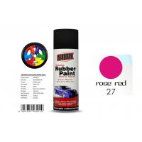Wholesale Car Wheel Removable Rubber Spray Paint With Head Light Rose Red Color from china suppliers