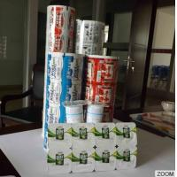 Wholesale Beautiful PET PP PS Cup / Tray Peelable Lidding Film Plastic Cup Sealing Film from china suppliers
