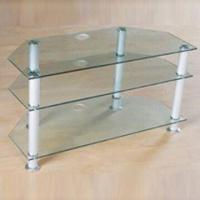 Wholesale TV Stand with 8mm Thick Toughened Glass and 5mm Aluminum Frame from china suppliers