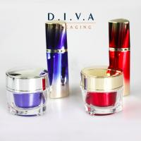 Wholesale Manufacture OEM Skin Care Use Luxury 15ml nice Triangle Acrylic Airless bottle for cosmetic Color Customise from china suppliers