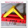 Buy cheap Hot! Cheap for Wholesale Manual Car Parking Wheel Lock Triangular Shape Car Stopper Block from wholesalers