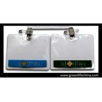 Wholesale Custom printed horizontal office using business name card holder pouch with badge clip from china suppliers
