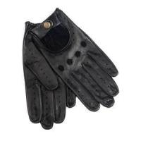 Wholesale XL Uinque black color warm winter Leather driving wool gloves for gentlemen from china suppliers