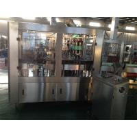 Wholesale SS304 PET Bottle Hot Filling Machine , Automatic 3 in 1 Beverage Filling Production Line from china suppliers