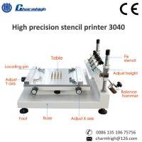China High Precision 3040 Manual Solder Paste Printer Machine 300*400mm For PCB Production Line on sale