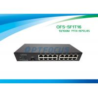 Quality Single 10gb Fiber Optic Switch 1 Port SFP Slot 100BASE - Fx 16Port 10 / 100BASE - Tx for sale