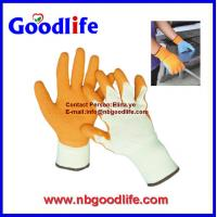 Wholesale Double color 13G polyester latex gloves malaysia price from china suppliers