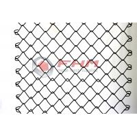 Buy cheap Chinese Manufacturer of Black Chain Link Fence Wholesale 50mm Hole Size 9 Gauge Wire from wholesalers