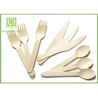 Wholesale 100% Natural Wooden Retail Eco Friendly Cutlery 100 Forks 100 Knives 100 Spoons from china suppliers