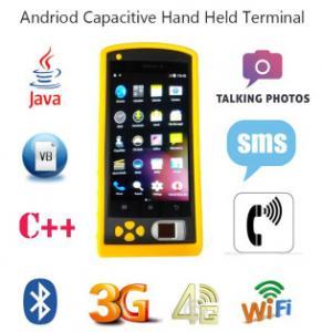Quality HF-FP05 Cheap Price RFID NFC USB Handheld Fingerprint Reader Barcode Scanner for sale