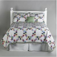 Wholesale Polyester Patchwork Quilt Bedding Set With Colorful Stripe For Hotel from china suppliers