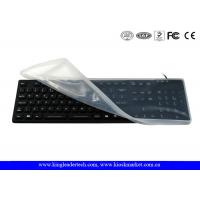 Wholesale Full Keys Black Waterproof Keyboard With Removable Silicone Protecting Cover from china suppliers