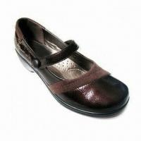 China Women Flat Dress Shoes with PU Upper and Outsole, Available in 35 to 41 Inches Sizes on sale