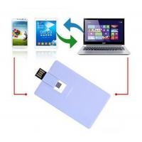 Quality Plastic Credit Card OTG / Mobile Phone USB Flash Drive 16GB 32GB for Smart Phone for sale