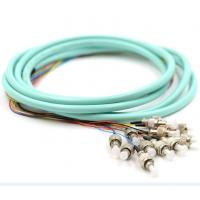 Wholesale 3 Meters Fiber Optic Pigtails Aqua OM2 / OM3 FC 12 Jacketed MM5010Gb For FTTH from china suppliers