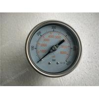 Quality 4 Inch 100mm All Stainless Steel Liquid Pressure Gauge with Shrink Bezel for sale