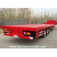Wholesale 3 Axles Flatbed 40 foot Container Trailer with 4 , 8 , 12 units container locks from china suppliers