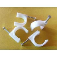 Wholesale PE Material Round Nail Cable Clip Fasteners for Indoor&Outdoor Wiring, 100 pcs / bag from china suppliers