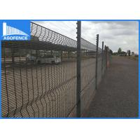 Wholesale Powder Painted Clearvu Security Fence with metal clip , Convenient Installation from china suppliers