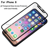 Buy cheap 3D Full Cover Tempered Glass Screen Protector 0.33mm 9H Anti Fingerprint Case Friendly for iPhone 8 from wholesalers
