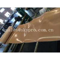 Wholesale Natural gum rubber sheet roll tan color high tensile strength for punching seals / washer from china suppliers