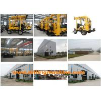 Quality 30 - 150 M Boring Depth Drill Rig Machine 15kn Windlass Hoisting Capacity 0.5m Stroke for sale