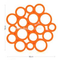 Quality Heat Resistant Circular Bubble Shape Heat Proof Mat Kitchen Table Silicone Mat/Pad for sale
