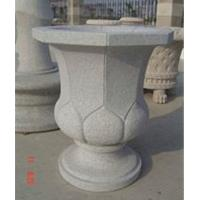 Wholesale Delicate Grey Granite Flowerpot, Modern Style Grey Granite Garden Stone from china suppliers