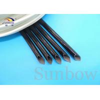 Wholesale 4.0KV 10mm Black silicone rubber fiberglass sleeve silicone fiberglass sleeving from china suppliers