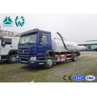Wholesale Environmental Vacuum Sewage Suction Trucks , HOWO 4 x 2 Sewer Cleaning Truck from china suppliers