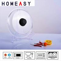 Wholesale 7 Inch / 10 Inch Pyrex Glass Lid No Leak Scratch Resistance OEM ODM from china suppliers