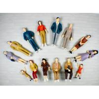 Wholesale P25-14 outdoor 1:25 Architectural Scale Model People Painted Figures 7cm from china suppliers