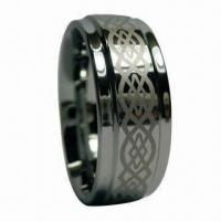 Wholesale Tungsten Carbide Ring with Engraving, Polished and Shiny Surface Finish from china suppliers