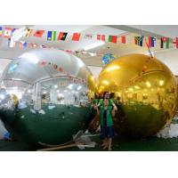 Quality 3m Inflatable Advertising Balloons Christmas Mirror Ball Silver / Gold Color for sale