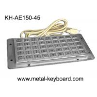 Wholesale 45 Keys Liquid proof / Vandalproof industrial keyboards in metal , USB interface from china suppliers