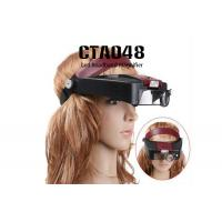 Wholesale Headband Magnifier Lamp Magnifying Glasses Loupe 10 With 2 LED Light Visor from china suppliers