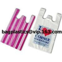 Wholesale T shirt bags, carriers, carrier, vest carrier, shopper, vest bag, grocery bag, tie top bag from china suppliers