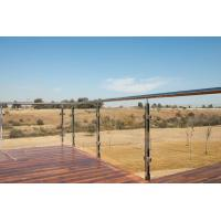 Buy cheap Balcony Railing Glass Price m2, Stainless Steel Square Pipe Railing Design from wholesalers