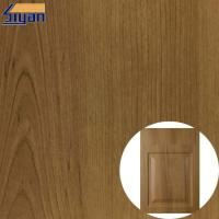 Wholesale Non Adhesive Wood Grain Membrane PVC Furniture Film For Decoration from china suppliers