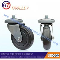 Wholesale 125 mm Warehousing Shopping Trolley Spare Parts  5 inch Ground PU Castor from china suppliers
