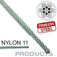 Wholesale Clear Coated Nylon 11 Stainless Steel Metal Wire Rope 7x7 For Sailboat Lifeline from china suppliers