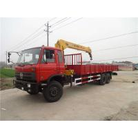 Wholesale Stable Dongfeng 6x4 10 Ton Crane Truck / 3 Axle Truck For Construction Materials from china suppliers