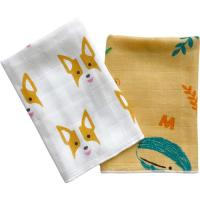 Wholesale Ultra Absorbent Baby Muslin Bibs 100% Cotton Face Towel Two Layers Gauze Cloth from china suppliers