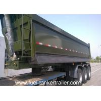 Wholesale Self discharge sand 40T - 60T Dump Semi Trailer with 28T two speed support legs from china suppliers