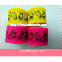 Wholesale kids silicone slap snap wristband with printed logo from china suppliers