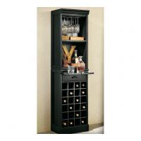 Wholesale Corner Wine Cabinet Grid Tower With Hardwood And Mahogany Veneer from china suppliers