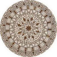 Quality Bathroom Round Stone Mosaic Tile, 10x10mm Marble Mosaic Floor Tiles for sale