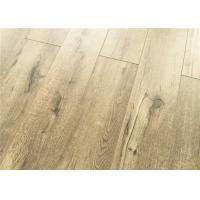 Wholesale Natural Color Oak EIR Laminate Flooring 12mm V Groove Edge Deep Wood Cracks Brushed from china suppliers