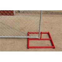 Quality 6 Foot x 12 Foot Temporary chain link construction fence panels cross brace punched foot then welded steel foot for sale