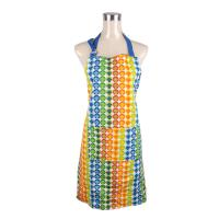 Wholesale Adjustable Neck Strap Retro Ladies Cook Cotton Kitchen Apron With Customized Size Pocket from china suppliers